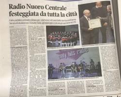 Radio Nuoro Centrale festeggiata da tutta la città